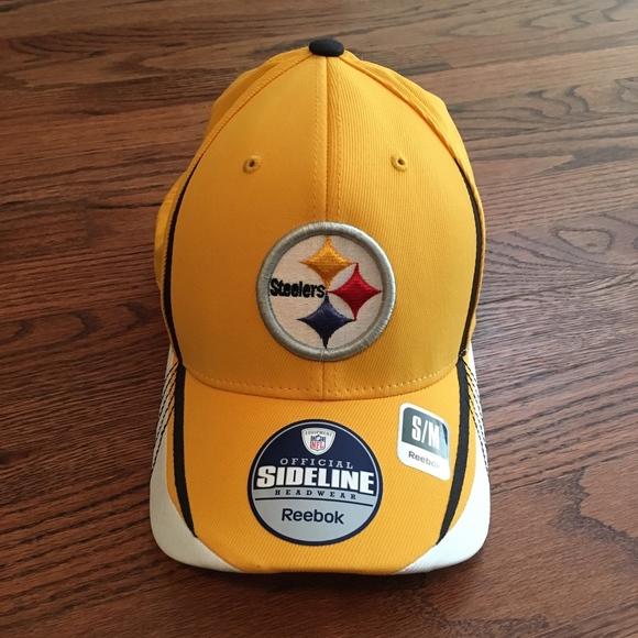 Vintage Reebok NFL Sideline Cap Hat Steelers S M 3d4cb722544